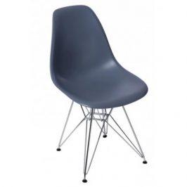 Culty Tmavě šedá plastová židle DSR
