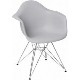 Culty Světle šedá plastová židle DAR