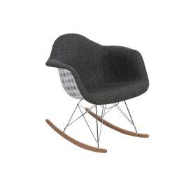 Culty Designové houpací křeslo RAR, šedá/kohoutí stopa