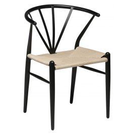 DAN-FORM Černá jídelní židle DanForm Delta
