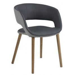 SCANDI Šedá látková jídelní židle Garry II.