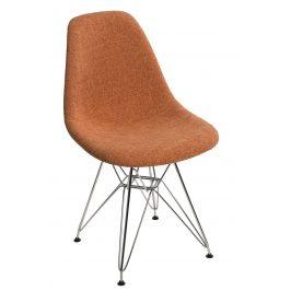Culty Oranžovošedá čalouněná židle DSR