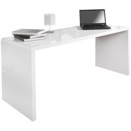 Moebel Living Bílý pracovní stůl Bersh 160 cm