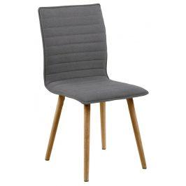 SCANDI Světle šedá látková jídelní židle Frida