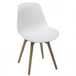 SCANDI Bílá plastová jídelní židle Shale