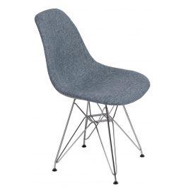 Culty Modrošedá čalouněná židle DSR