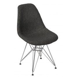 Culty Celočalouněná židle DSR v provedení šedá/kohoutí stopa
