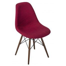 Culty Červenošedá celočalouněná židle DSW s tmavou podnoží