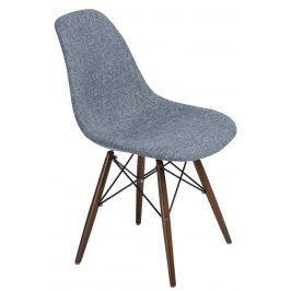 Culty Modrošedá celočalouněná židle DSW s tmavou podnoží