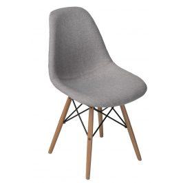 Culty Šedá celočalouněná židle DSW v provedení patchwork