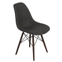 Culty Šedá celočalouněná židle DSW v provedení kohoutí stopa s tmavou podnoží