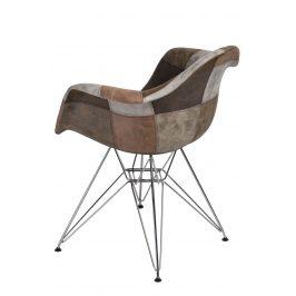 Culty Béžovo hnědá patchwork čalouněná židle DAR