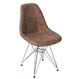 Culty Hnědá čalouněná židle DSR