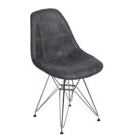 Culty Grafitově černá čalouněná židle DSR