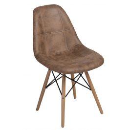Culty Hnědá celočalouněná židle DSW