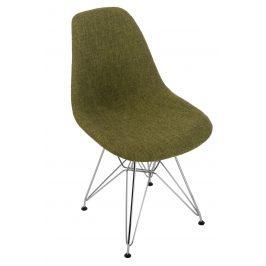 Culty Zelenošedá celočalouněná židle DSR
