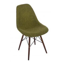Culty Zelenošedá celočalouněná židle DSW s tmavou podnoží