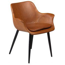 DAN-FORM Koňakově hnědá čalouněná vintage židle DanForm Combino