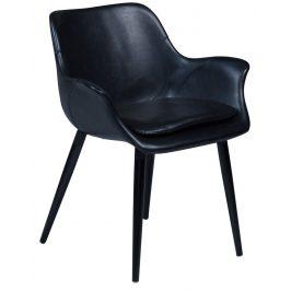 DAN-FORM Černá čalouněná vintage židle DanForm Combino