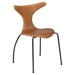 DAN-FORM Světle hnědá kožená židle DanForm Dolphin