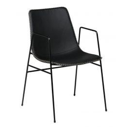 DAN-FORM Černá čalouněná židle DanForm Floss