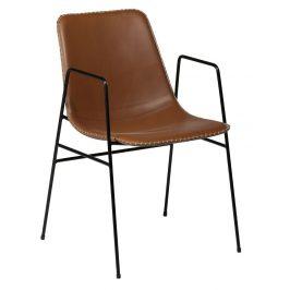DAN-FORM Světle hnědá čalouněná židle DanForm Floss