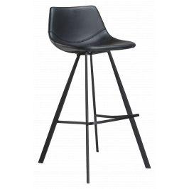 DAN-FORM Černá čalouněná barová židle DanForm Pitch