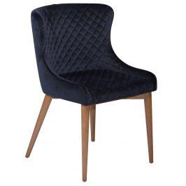 DAN-FORM Ocelově modrá sametová židle DanForm Vetro