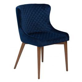 DAN-FORM Královská modrá sametová židle DanForm Vetro
