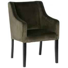 Hoorns Zelená sametová židle Greago