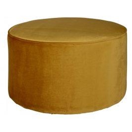 Hoorns Okrově žlutý taburet Norma L Taburety do obýváku