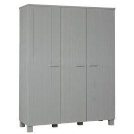 Hoorns Světle šedá dřevěná skříň Koben 158 cm