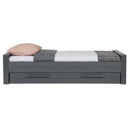 Hoorns Tmavě šedá postel Koben 90x200 cm