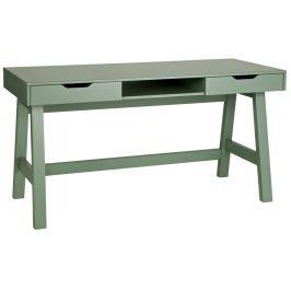 Hoorns Zelený masivní pracovní stůl Warde 140x62 cm