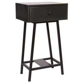 Hoorns Černý noční stolek Trax