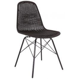 Hoorns Černá vyplétaná židle Alen