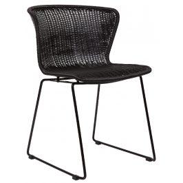 Hoorns Černá vyplétaná židle Leon