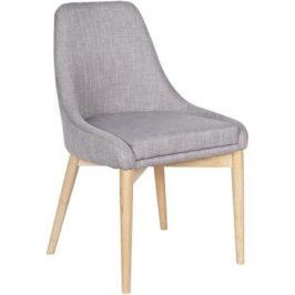 Hoorns Světle šedá čalouněná židle Kobby