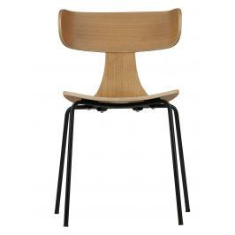 Hoorns Přírodní dřevěná jídelní židle Plane