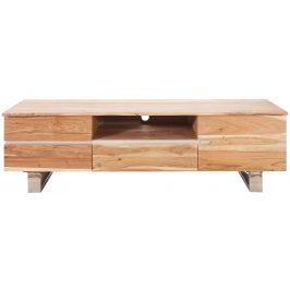 Moebel Living Masivní akátový TV stolek Holz 160x45 cm