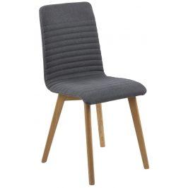 SCANDI Antracitově šedá jídelní židle Areta