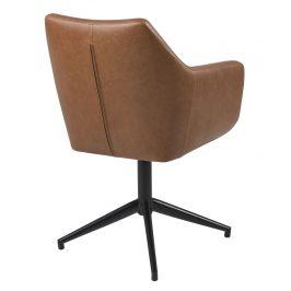 SCANDI Hnědá otočná jídelní židle Marte