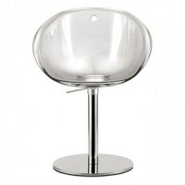 Pedrali Transparentní plastová otočná židle Gliss 951