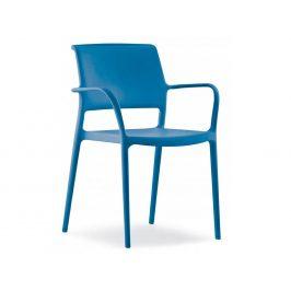 Pedrali Modrá plastová jídelní židle ARA 315