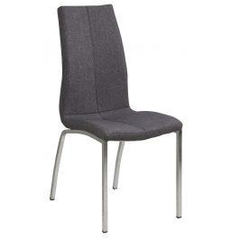 SCANDI Šedá látková jídelní židle Oliver