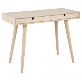 SCANDI Přírodní dubový pracovní stůl Celia 74x45 cm