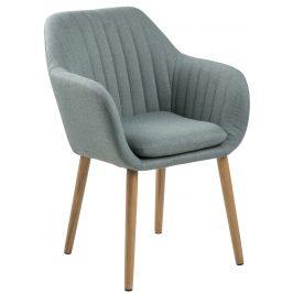 SCANDI Zelená látková jídelní židle  Milla s prošíváním
