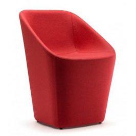 Pedrali Červená vlněná židle Log 365