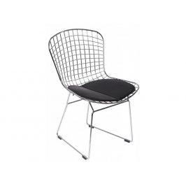 Culty Chromová židle Harry s černým podsedákem