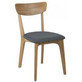 SCANDI Šedá látková jídelní židle Costa